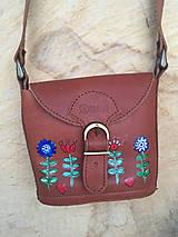 Malá kožená kabelka-FOLK