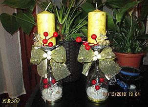 Svietidlá a sviečky - Vianočné svietničky - 10208826_
