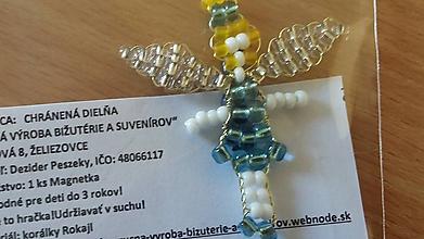 Magnetky - Magnetka Víla (Tyrkysová) - 10209243_