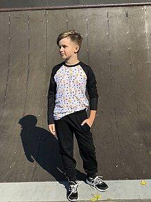 Tričká - Termo tričko emoji s dlhým rukávom - 10208510_