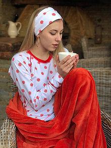 Tričká - Termo tričko dámske Snehová vločka - 10211317_