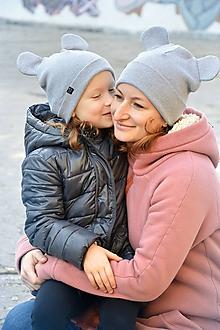 Detské čiapky - Flexi čiapka Mickey sivá - 10211785_