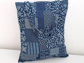 Nákupné tašky - ...denim patchwork... - 10208966_