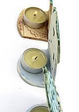 Svietidlá a sviečky - svietnik dom ružovo farebný - 10209638_