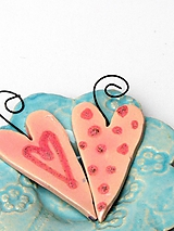 Dekorácie - srdiečko ružové na zavesenie - 10209682_