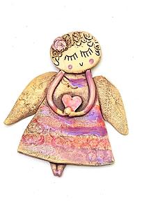 Dekorácie - Anjel na zavesenie - 10209572_