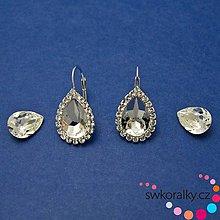Náušnice - Náušnice na slzu 14 mm Swarovski crystals - 10211702_