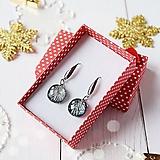Náušnice - Vianočné trblietanie - slávnostné náušnice - 10208615_