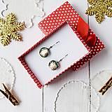 Náušnice - Ružovo-strieborné vianoce - visiace náušnice - 10208624_