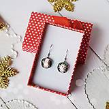 Náušnice - Ružovo-strieborné vianoce - visiace náušnice - 10208625_