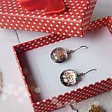 Náušnice - Ružovo-strieborné vianoce - visiace náušnice - 10211812_
