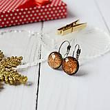 Náušnice - Pomarančové sladkosti - sklenené náušnice - 10211915_