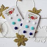 Náušnice - Náušičky ombre - sklenené napichovačky (Modrá) - 10212151_