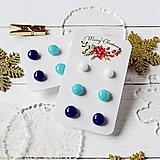 Náušnice - Náušičky ombre - sklenené napichovačky (Modrá) - 10212160_