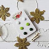 Náušnice - Náušičky ombre - sklenené napichovačky (Zelená) - 10212172_