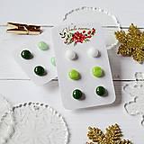 Náušnice - Náušičky ombre - sklenené napichovačky (Zelená) - 10212178_