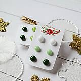 Náušnice - Náušičky ombre - sklenené napichovačky (Zelená) - 10212182_