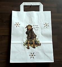 Nákupné tašky - vianočná darčeková taška chlapček - 10212163_
