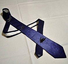 Doplnky - Tmavě modrá kravata s vrtulníky - 10211586_