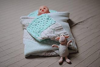 Textil - Minky baby dečka zelenkavá - 10209145_
