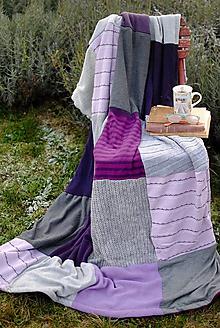 Úžitkový textil - Fialová levanduľová - 10211086_