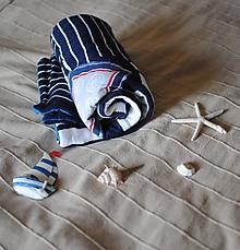 Textil - Modrá minky dečka - 10211113_