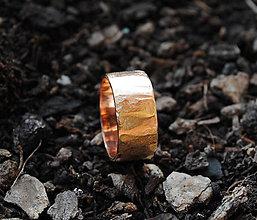 Prstene - Obrúčka zlatá červená - 10214449_