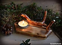 """Svietidlá a sviečky - Svietnik """"Lesná spriaznenosť"""" - 10215199_"""