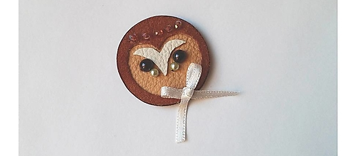 Odznaky/Brošne - Plamienka hnedá - 10214716_