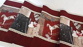 Úžitkový textil - Stredový Vianočný obrus  (Snehové vločky s čipkou) - 10215967_