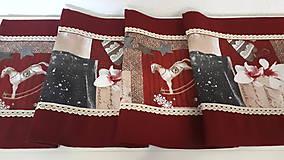 Úžitkový textil - Stredový Vianočný obrus  (Snehové vločky s čipkou) - 10215982_