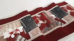 Úžitkový textil - Stredový Vianočný obrus  (Snehové vločky s čipkou) - 10215994_