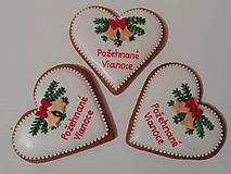 Dekorácie - Medovnikové srdce-Požehnané Vianoce - 10216163_