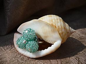 Prstene - VÝPREDAJ! Karibský azurový prsteň - 10215953_