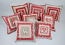 Úžitkový textil - Návliečka na vankúš scandi jelenia hlava - 10212704_