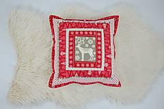 Úžitkový textil - Návliečka na vankúš scandi jelenia hlava - 10212709_