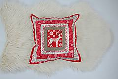 Úžitkový textil - Návliečka na vankúš scandi jelenia hlava - 10212714_
