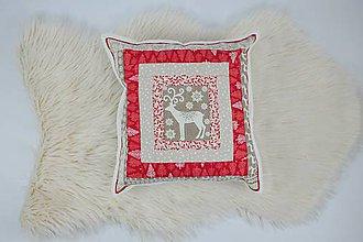 Úžitkový textil - Návliečka na vankúš scandi béžový jeleň 2. - 10212718_