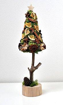 Dekorácie - Vianočný stromček-Škorica,pomaranč a badián - 10213839_