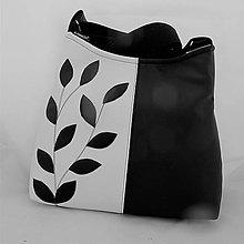 Kabelky - BLACK and WHITE - eco kůže - černá - PARROT® - 10214640_