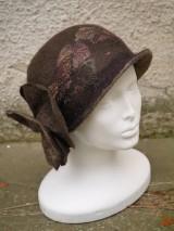 Čiapky - Plstený klobúk dámsky-hnedý - 10215033_