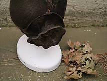 Čiapky - Plstený klobúk dámsky-hnedý - 10215034_