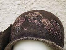 Čiapky - Plstený klobúk dámsky-hnedý - 10215038_