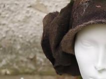 Čiapky - Plstený klobúk dámsky-hnedý - 10215042_