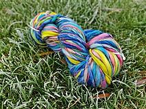 Materiál ručne robený - Ručne pradené extrajemné farbičky - 10214011_