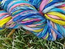Materiál ručne robený - Ručne pradené extrajemné farbičky - 10214013_