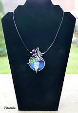 Náhrdelníky - Fialka - opalit, vinutá perla - 10215408_