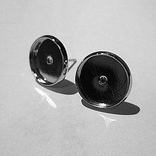 Komponenty - Puzeta s lôžkom-1pár (12mm-platina) - 10214854_