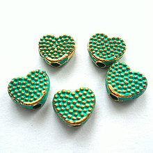 Korálky - Kov.srdce 6,5mm-1ks - 10216456_