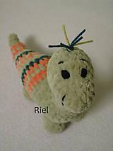 Hračky - Háčkovaný dinosaurus Šimonko - 10215237_